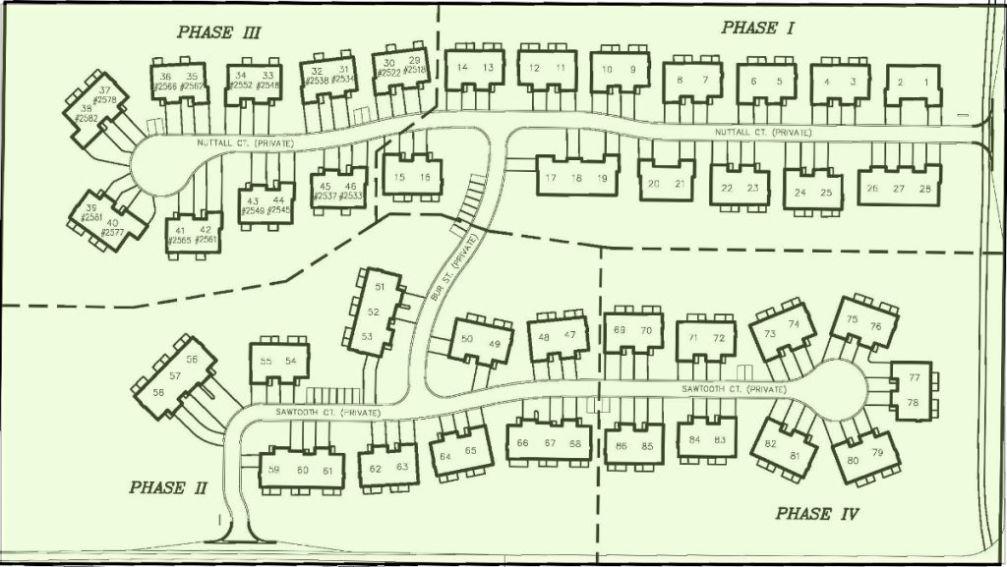 Plat map of Sawgrass Condominiums