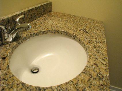Counter top on half bath vanity
