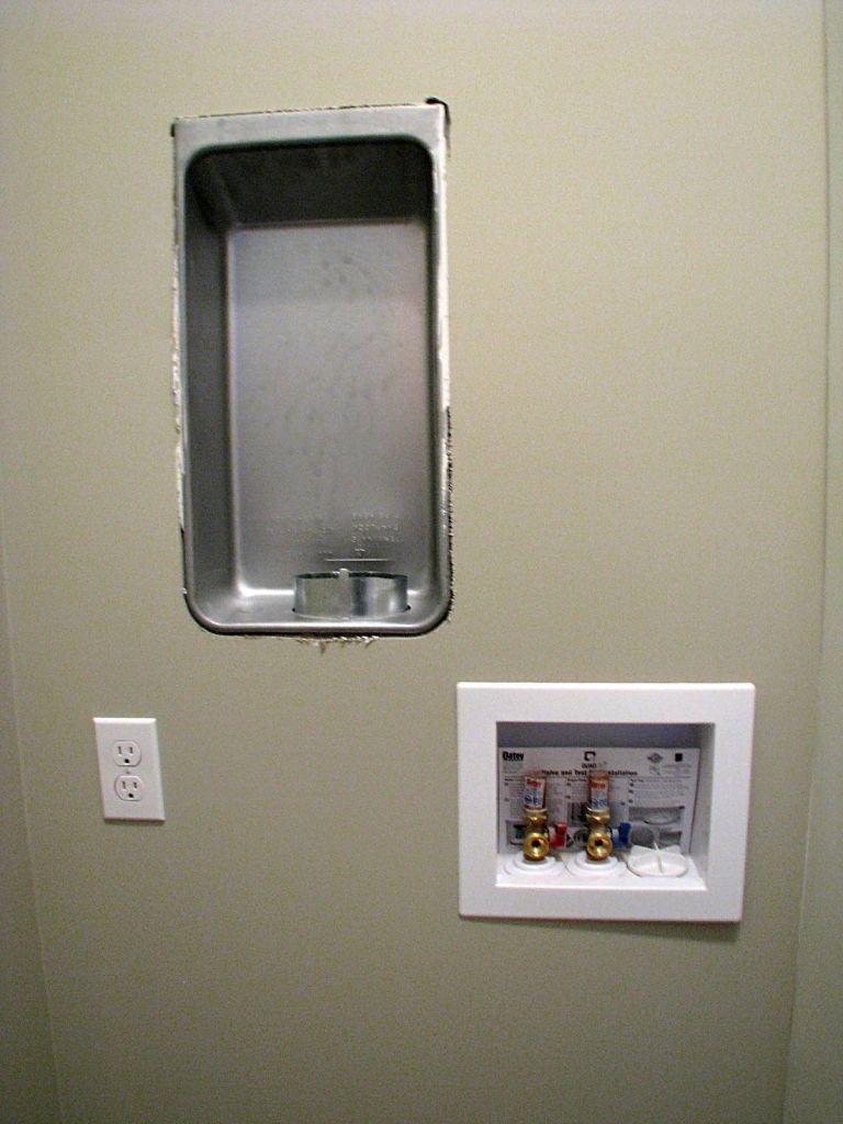 Laundry hookup for washer & fryer