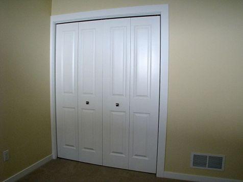 Closet in lower level bedroom