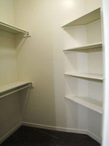 Step in closet in Master bedroom