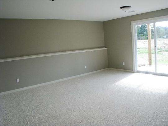 Family room with slider to back yard patio