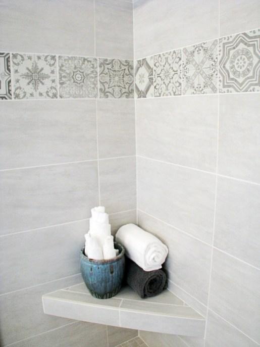 37-Master bath tile shower seat-