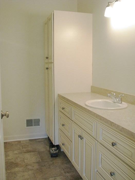 Cabinets off white bath