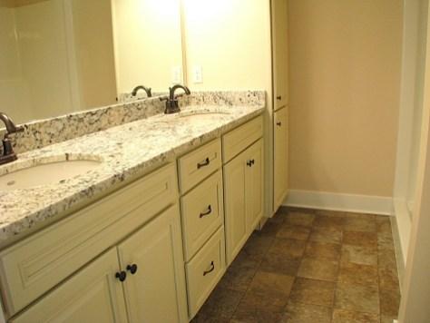 cabinets bath granite counter
