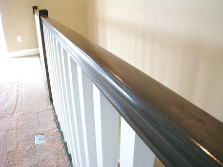 railing wood and paint
