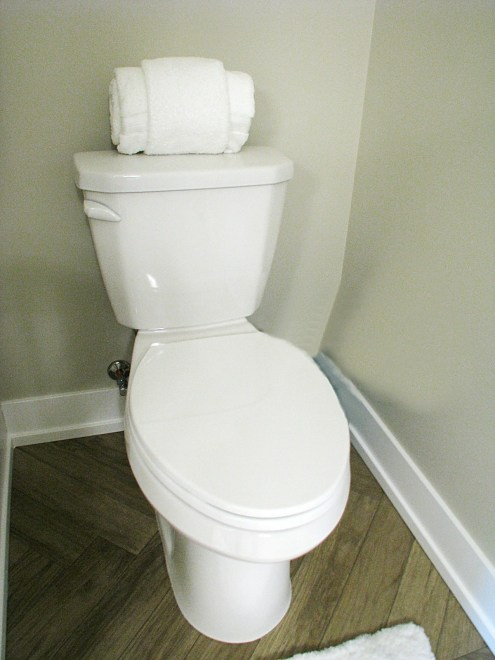 Toilet with elongated seat
