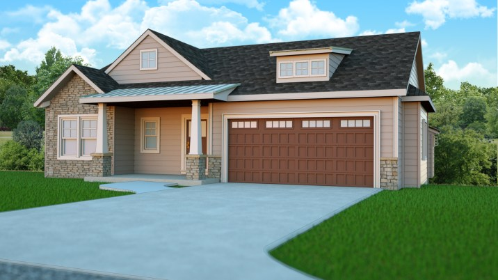 Free Standing, walk-out lower level, 2 stall extended garage