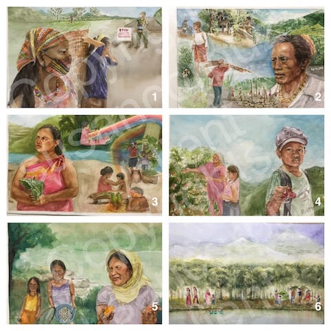 watercolor illustrations for NTFP and SIANI; 2020; 14 in. by 20 in.