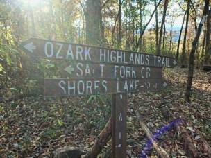Signage as we left White Rock Mountain