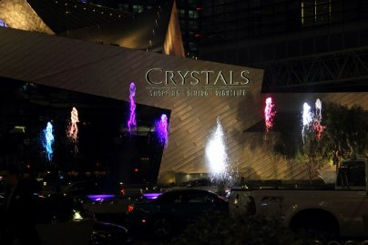 Crystals Fountain at Aria
