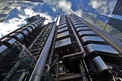 The very futuristic and imposing Lloyd's of London building