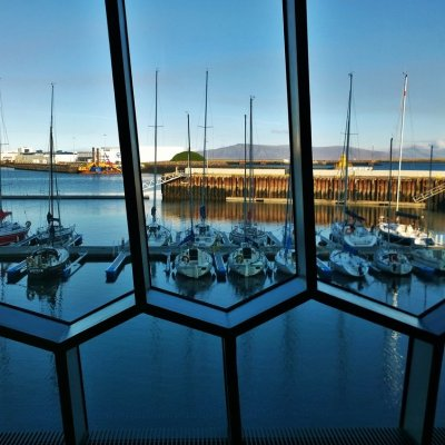 Looking out to the marina from Harpa