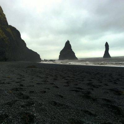 Reynisfjara beach and the Reynisdrangar sea stacks
