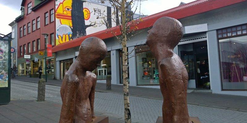 Public art on Laugavegur