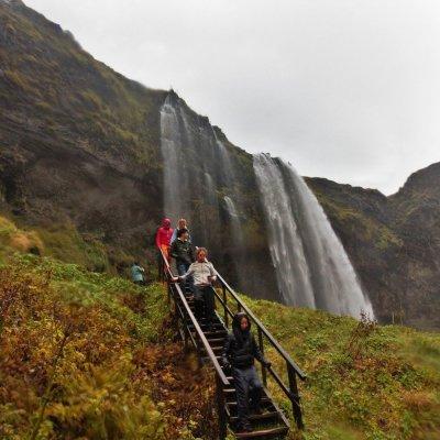 Coming down from behind Seljalandsfoss