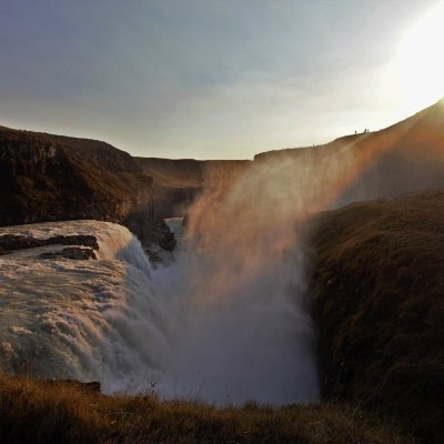 The lower falls and gorge at Gullfoss