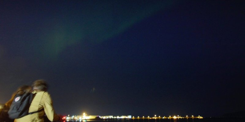 The only glimpse of the Northern Lights I we saw