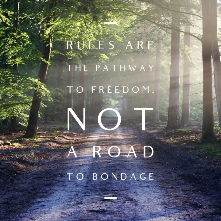 Rules are a pathway to freedom not a road to bondage