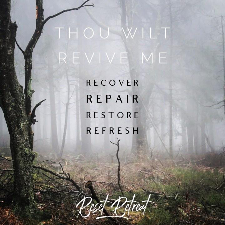 Retreat, restore, recover