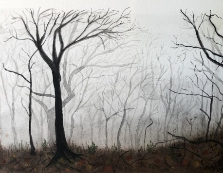 Original landscape watercolor