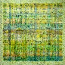 COMMUNITY WATERSCAPE mixed media panel 3'x3' SOLD