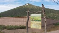 Entrance to the Mission Garden near Sentinel  Peak