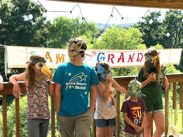 Camp Grandma creative ideas included these masks.