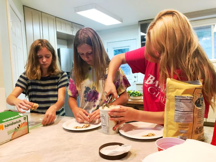 Camp Grandma 2019 pre-camp cooking