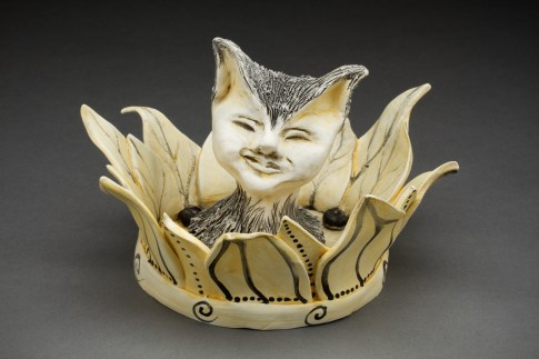 Sunflower Kitty, clay