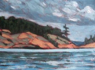 """Georgian Bay series #1, acrylic on texturized canvas, 8"""" x 10"""", 2010"""
