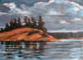 """Georgian Bay series #2, acrylic on texturized canvas, 8"""" x 10"""", 2010"""
