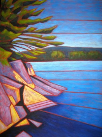 "Haliburton scene, abstracted #1, Acrylic on canvas, 30"" x 40"", 2011"