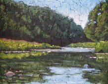 """Maitland River Series, acrylic on texturized canvas, 22"""" x 28"""", 2009"""