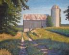 "Old Barn Near Benmiller, Ont., acrylic on texturized canvas, 22 x 28"", 2012 SOLD"