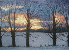 """Sunset on Summerhill Rd. 3, acrylic on canvas, 24"""" x 36"""", 2008 SOLD"""