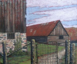 two-old-barns
