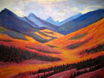 "Yukon Gold, acrylic on canvas, 30"" x 48"""