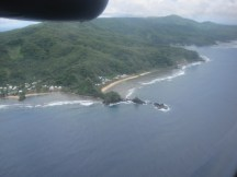 First sight of American Samoa, from the plane