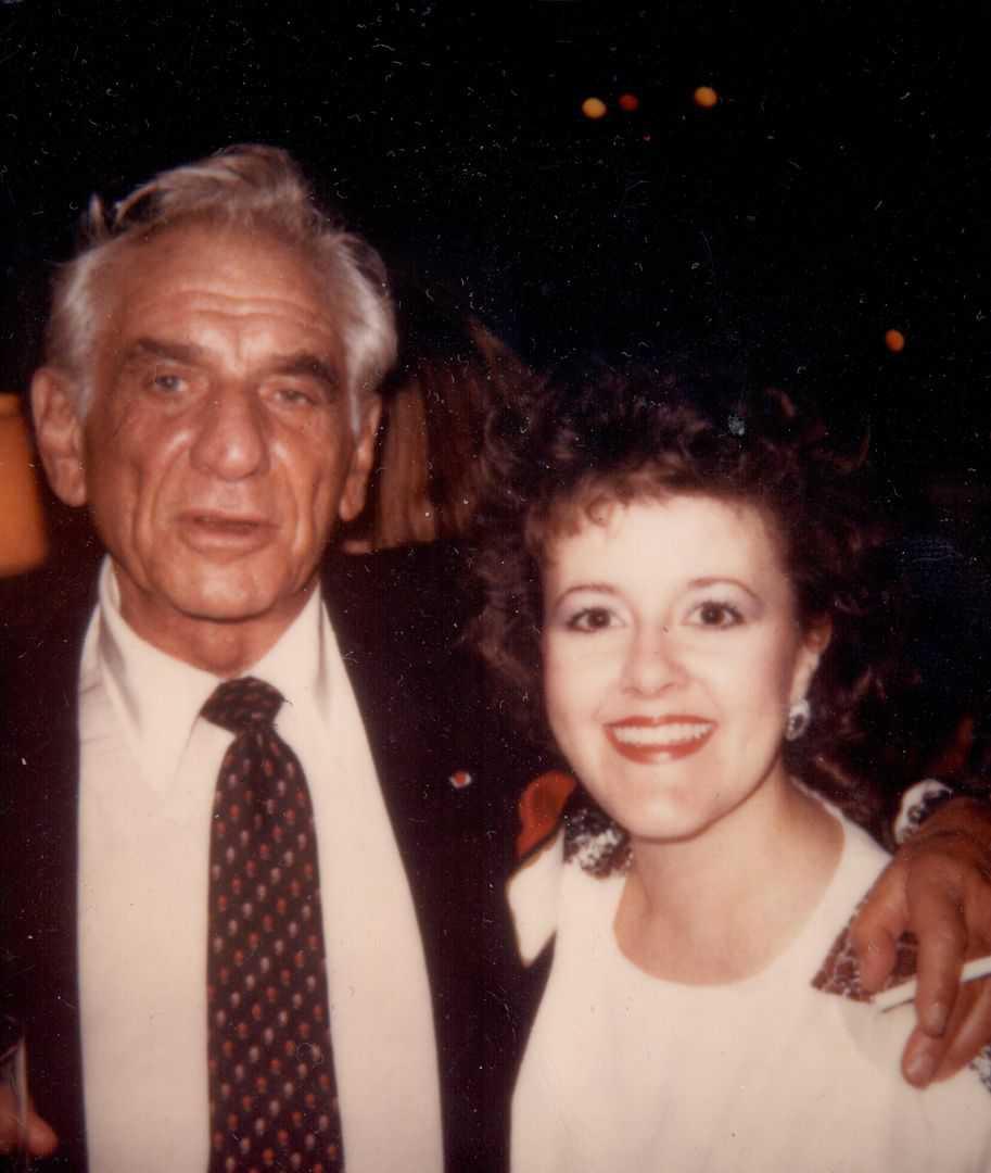 Susan with Leonard Bernstein