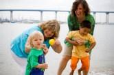"A ""real"" family having fun at the beach"