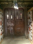 Picture of heavy wooden doors