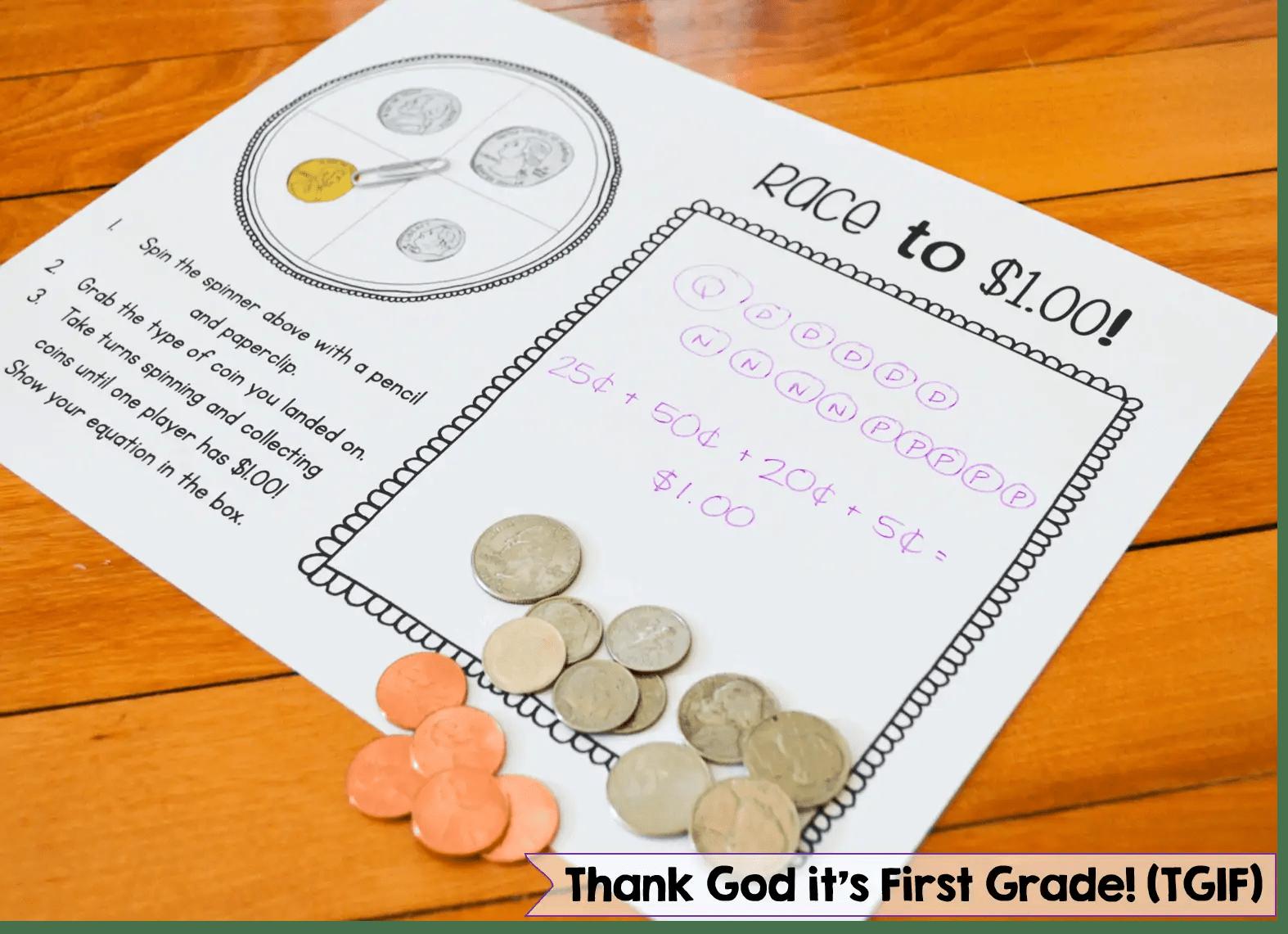 Money Activities For Kindergarten And 1st Grade