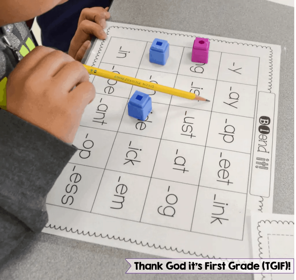 Free Consonant Blends Game