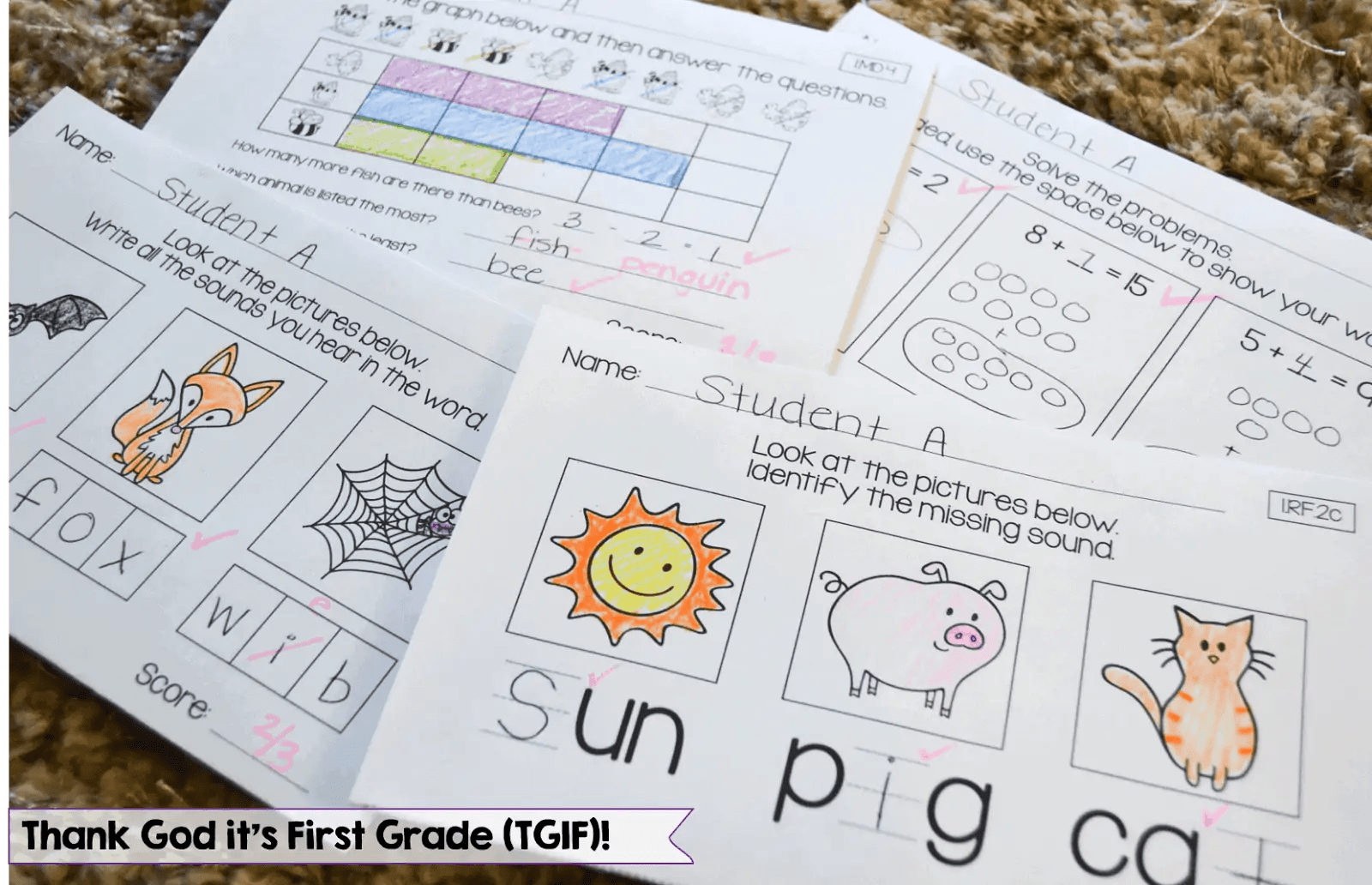 Quick Common Core Assessments For 1st Grade
