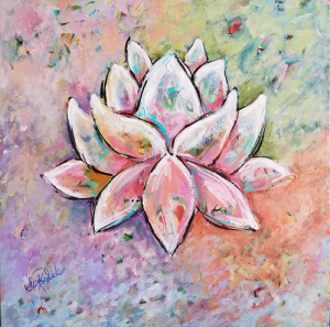 Come Home to Your Self- Lotus Painting