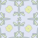 Dragonfly and Lotus Pattern Collection