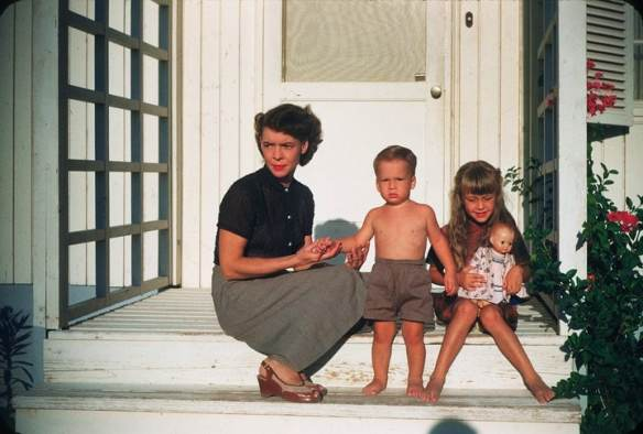 My mother, brother, and me circa 1953.