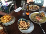 Gnocchi & Chicken mains along with fries