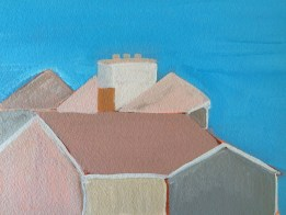 """View from Bayberry Hill   Acrylic on 300# paper   11"""" x 8.5""""     $200"""